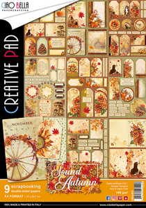 Bilde av Ciao Bella - 023 - A4 Creative Pad - Sound of Autumn - 9pk