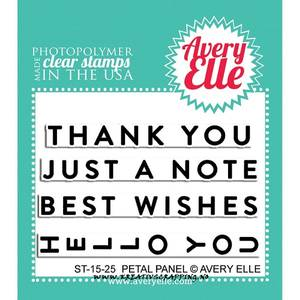 Bilde av Avery Elle - 2x3 Clear stamps 1525 - Petal Panel (NB: Gulnet)