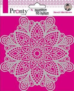 Bilde av Pronty Crafts - Stencil - 150x150mm - Mandala 4 by Jolanda