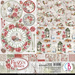 Bilde av Ciao Bella - 039 - 12x12 Patterns Pad - Frozen Roses - 8pk