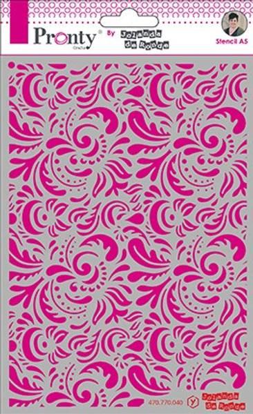 Pronty Crafts - Stencil - A5 - Barok 3
