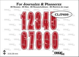 Bilde av Crealies - Dies - Journalzz & Plannerzz 609 - Numbers and shadow
