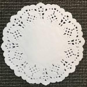 Bilde av Papirdesign - Kakeservietter - 15 cm - hvit (Nedsatt dårlig preg