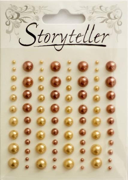 Storyteller - Halvperler - ST-009612 - Lys og mørk bronse