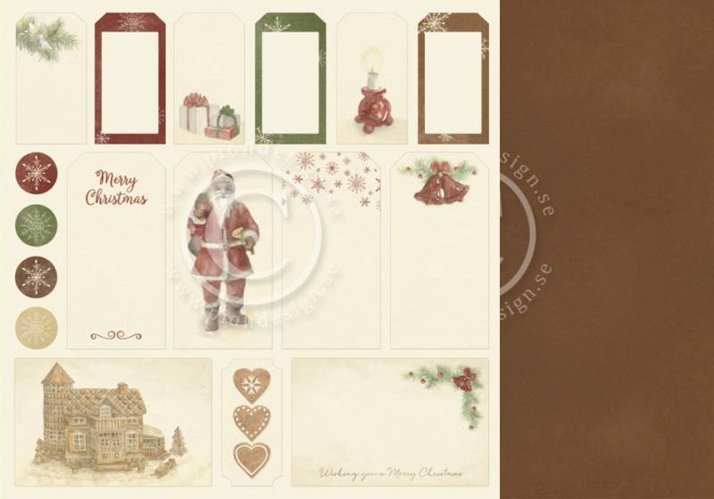 Pion Design - PD9812 - Christmas Wishes - Tags