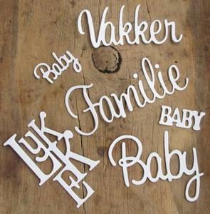 Bilde av Papirdesign - Chipboards - 633 - Baby ord