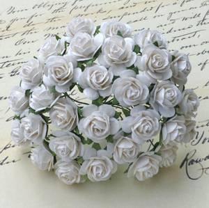 Bilde av Flowers - Roses - Saa-010 - 25mm - White - 50stk