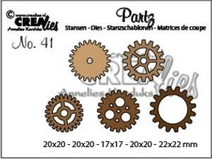 Bilde av Crealies - Dies - Partz 41 - 5 x Gears small