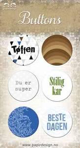 Bilde av Papirdesign - Buttons - 863 - Tøffen
