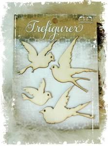 Bilde av Papirdesign - Trefigurer - PD 14954 Fugler