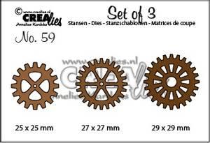 Bilde av Crealies - Dies - Set of 3 no. 59 - 3 x Gears