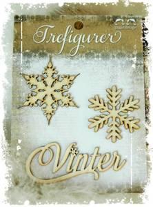 Bilde av Papirdesign - Trefigurer - PD 14955 Vinter