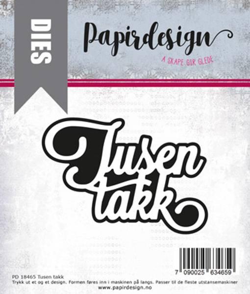 Papirdesign Dies PD18465 - Tusen takk