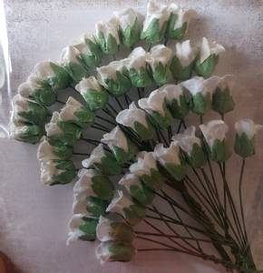 Bilde av Papirdesign - Lukket rose - hvit