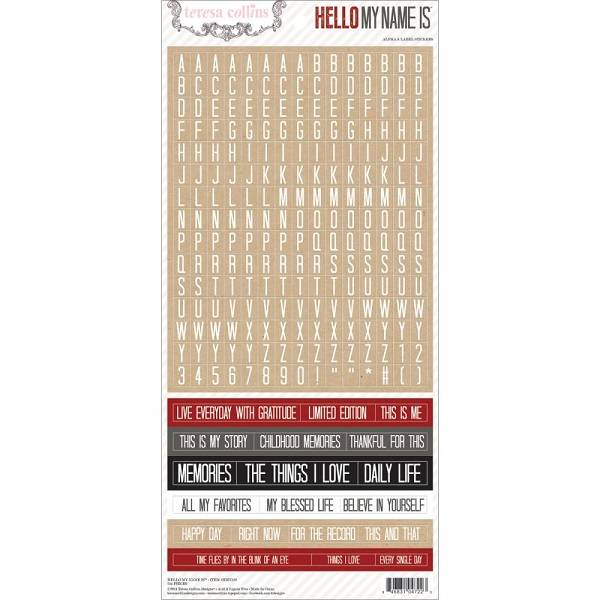 TERESA COLLINS - HELLO MY NAME IS 122 - STICKERS - WORDS