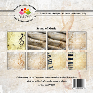 Bilde av Dixi Craft - Paper Pad 15x15 - 039 - Sound of Music