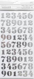 Bilde av Thickers - 370863 - Foil Chipboard - Silver - Numbers