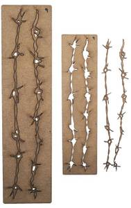 Bilde av Creative Expressions - Art-Effex Boards MDF - Barbed Wire Border