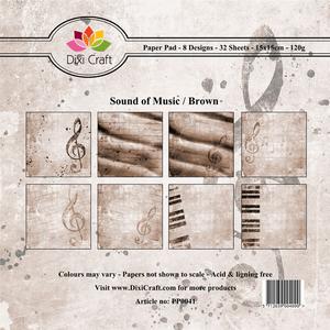 Bilde av Dixi Craft - Paper Pad 15x15 - 041 - Sound of Music - Brown