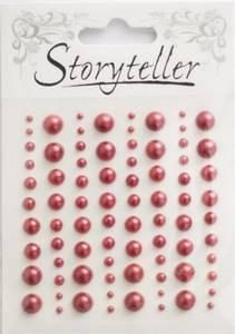 Bilde av Storyteller - Halvperler - ST-009629 - Rød