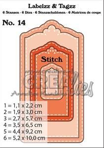 Bilde av Crealies - Dies - Labelzz & Tagzz 14 - With stitch line