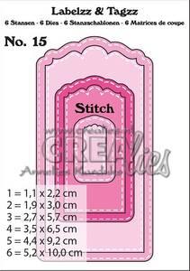 Bilde av Crealies - Dies - Labelzz & Tagzz 15 - With stitch line