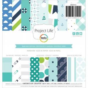 Bilde av American Crafts - Project Life - 6x6 Paper Pad - Baby Boy
