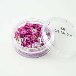 Bilde av Kort & Godt - Paljetter i boks - PA202 - rund rosa