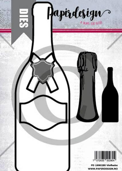 Papirdesign Dies PD1900280 - Vinflaske