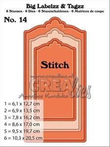 Bilde av Crealies - Dies - Big Labelzz & Tagzz 14 - With stitch line