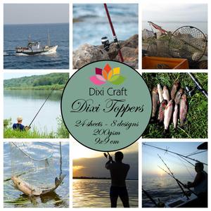 Bilde av  Dixi Craft - Dixi toppers - ET0201 -  Fishing