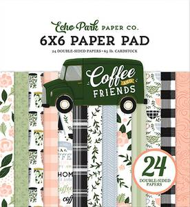 Bilde av Echo Park - Coffee & Friends - 6x6 Paper Pad