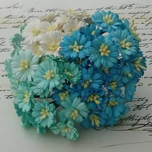 Bilde av Flowers - Cosmo Daisy Flowers - SAA-150 - Mixed Aqua/Blue - 50st