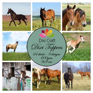 Bilde av  Dixi Craft - Dixi toppers - ET0283 - Horses