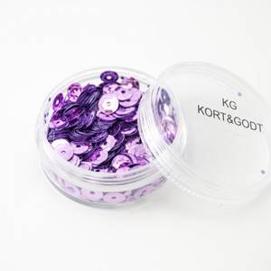Bilde av Kort & Godt - Paljetter i boks - PA204 - rund lilla