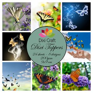 Bilde av  Dixi Craft - Dixi toppers - ET0297 - Butterflies