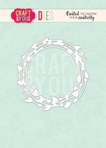 Bilde av Craft & You - Dies - CW122 - Wreath with leave