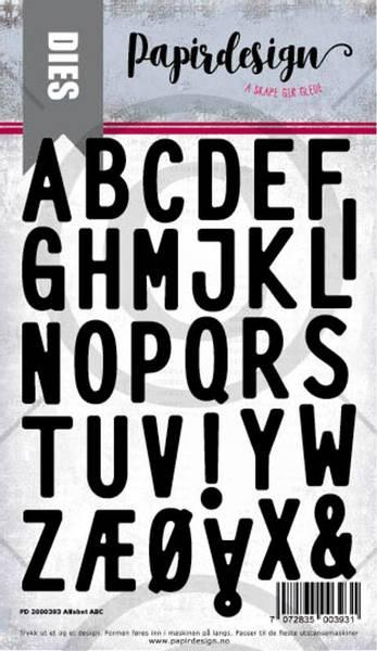 Papirdesign Dies PD2000393 - Alfabet ABC
