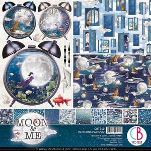 Bilde av Ciao Bella - 040 - 12x12 Patterns Pad - Moon & Me - 8pk