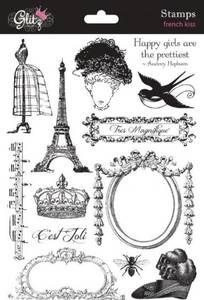 Bilde av Glitz design - clear stamps - S3191 - FRENCH KISS