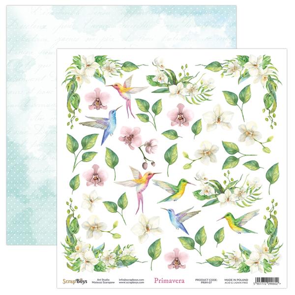ScrapBoys - Primavera - 12x12 - PRIM-07 Die Cut Sheet