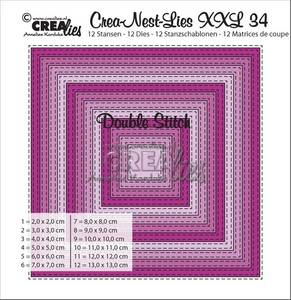 Bilde av Crealies - Crea-Nest-Lies XXL 34 - Square with double stitchline