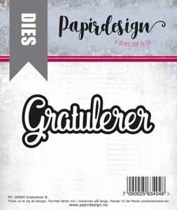 Bilde av Papirdesign Dies PD2000399 - Gratulerer 8