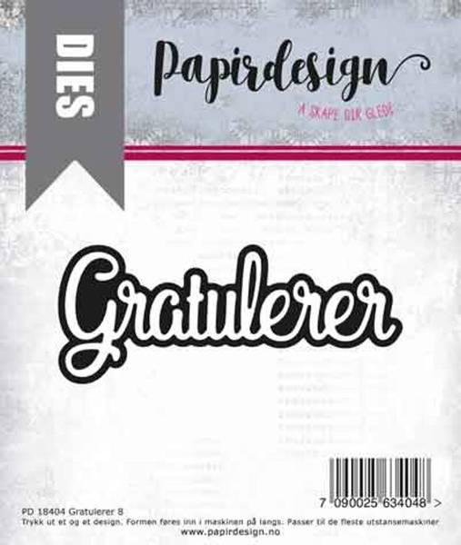 Papirdesign Dies PD2000399 - Gratulerer 8
