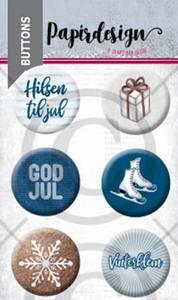Bilde av Papirdesign - Buttons - 2000460 - God jul 5
