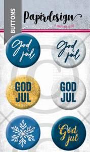 Bilde av Papirdesign - Buttons - 2000459 - God jul, blå