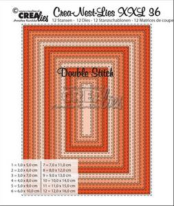 Bilde av Crealies - Crea-Nest-Lies XXL 36 - Rectangles with double stitch