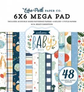 Bilde av Echo Park - Welcome Baby Boy - 6x6 Mega Paper Pad