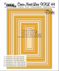 Bilde av Crealies - Crea-Nest-Lies XXL 44 - Rectangles with dots