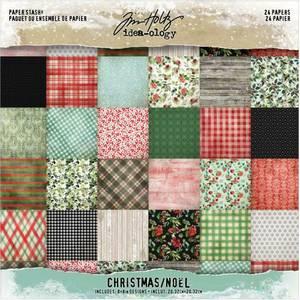 Bilde av Tim Holtz - Idea-Ology - 8x8 Paper Stash - Mini stash Christmas
